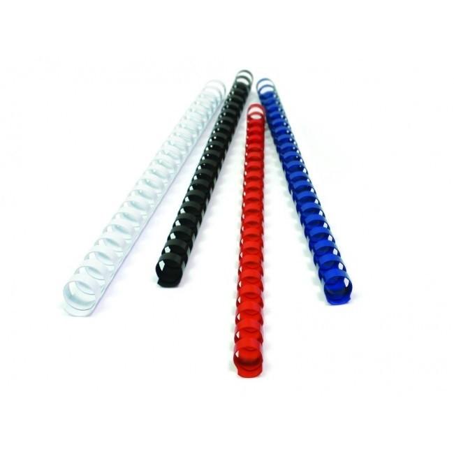 Plastikinė įrišimo spiralė FELLOWES, 8mm, balta, 100vnt