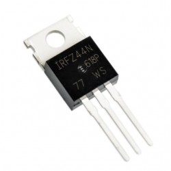 Tranzistorius IRFZ44N (N-FET 55V 49A 150W 0.022Ohm TO-220)
