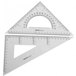 Liniuočių rinkinys Deli 6425 90l trikampiai x 2vnt