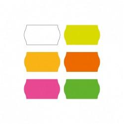 Kainų etiketės 26x16 mm geltonos