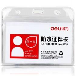 Dėklas Deli 5758 ID kortelei 91x56mm horizontalus
