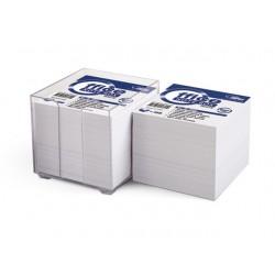 Užrašų lapeliai Forpus 9x9cm, 800 baltų lapelių, skaidrioje dėžutėje