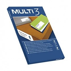 Lipnios etiketės MULTI-3, 38 x 21,2 mm