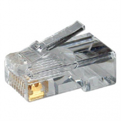Logilink MP0002 CAT5e Modular PlugSuitable for 8P8C Round CablePlug unshieldedGold-plated contacts, Transparent