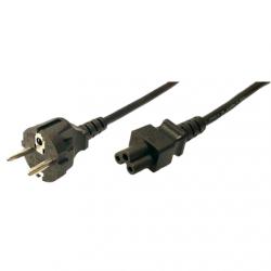 LogiLink® Power cord, safety plug male to IEC C5 female, 1.80m, black ACC 1.8 m
