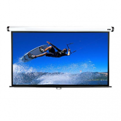 "Elite Screens Manual Series M100XWH Diagonal 100 "", 16:9, Viewable screen width (W) 221 cm, White"