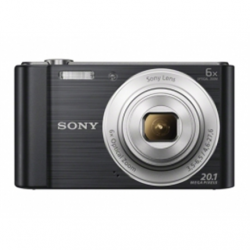 Sony Cyber-shot DSC-W810 Compact camera, 20.1 MP, Optical zoom 6 x, Digital zoom 48 x, Image stabilizer, ISO 800, Display diagonal 6.86 cm, Video recording, Lithium, Black