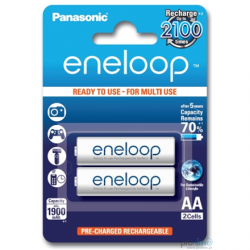 Panasonic eneloop AA/HR6, 1900 mAh, Rechargeable Batteries Ni-MH, 2 pc(s), Ready to use