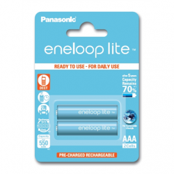 Panasonic eneloop AAA/HR03, 550 mAh, Rechargeable Batteries Ni-MH, 2 pc(s)