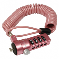 Logilink NBS007,  Notebook Coil Cable Lock, pink Logilink