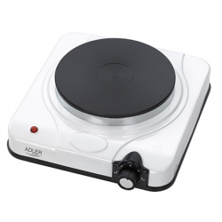Adler Free standing table hob AD 6503 Number of burners/cooking zones 1, White, Electric stove, Electric