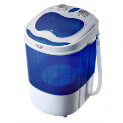 Adler Washing machine AD 8051 Top loading, Washing capacity 3 kg, Unspecified RPM, Unspecified, Depth 37 cm, Width 38 cm, White/Blue,