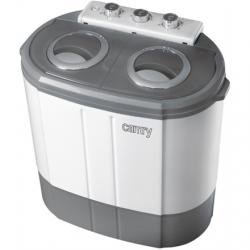 Camry Washing machine CR 8052 Top loading, Washing capacity 3 kg, 1300 RPM, Depth 40 cm, Width 60 cm, White-Grey,