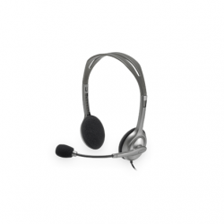Logitech Stereo headset H111 Single 3.5 mm jack, Grey, Built-in microphone