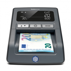 SAFESCAN Money Checking Machine 155-S Black, Suitable for  EUR, GBP, CHF, PLN and HUF, Number of detection points 7, Value counting