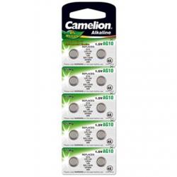 Camelion AG10/LR54/LR1131/389, Alkaline Buttoncell, 10 pc(s)