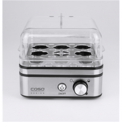 Caso Egg cooker E9  Stainless steel, 400 W, Functions 13 cooking levels