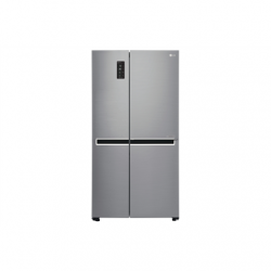 LG Refrigerator GSB760PZXV Energy efficiency class F, Free standing, Side by Side, Height 179 cm, No Frost system, Fridge net capacity 411 L, Freezer net capacity 231 L, Display, 39 dB, Stainless steel