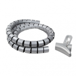 Logilink Cable Spiral Wrapping Band KAB0014 Silver
