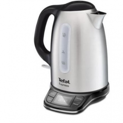 TEFAL Kettle KI240D30 With electronic control, 2400 W, 1.7 L, Stainless Steel, Stainless Steel, 360° rotational base