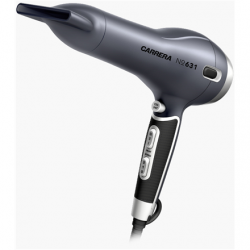 Carrera Hair Dryer No. 631  2400 W, Number of temperature settings 3, Ionic function, Diffuser nozzle, Grey/Black