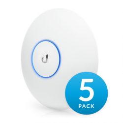 Ubiquiti UniFi UAP-AC-LR-5 (5-Pack) 2.4 - 5, 867 Mbit/s, 10/100/1000 Mbit/s, MU-MiMO Yes, PoE in, 802.11 a/b/g/n/ac, (PoE injector not included)