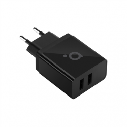 Acme Wall charger CH204 2 x USB Type-A, Black, DC 5 V, 2.4 A (12 W)