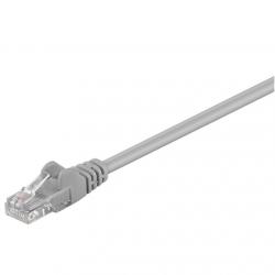 Goobay CAT 5e patch cable, U/UTP RJ45 male (8P8C), RJ45 male (8P8C), 3 m, Grey