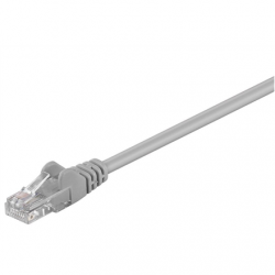 Goobay CAT 5e patch cable, U/UTP RJ45 male (8P8C), RJ45 male (8P8C), 5 m, Grey