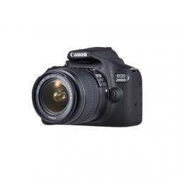 "Canon EOS 2000D 18-55 III EU26 SLR Camera Kit, Megapixel 24.1 MP, Image stabilizer, ISO 12800, Display diagonal 3.0 "", Wi-Fi, Video recording, APS-C, Black"