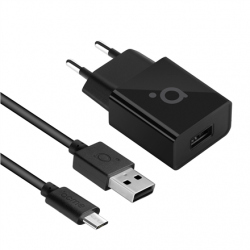Acme Wall charger CH211 Micro USB, 1 x USB type A, Black, DC 5 V, 2.4 A (12 W)