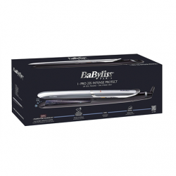 BABYLISS Hair straightener ST387E Pro 235 Intense Protect Ceramic heating system, Ionic function, Display LED, Temperature (min) 140 °C, Temperature (max) 235 °C, Number of heating levels 6, Black, Yes, Yes, Yes, Includes a heat-resistant insulated mat, N