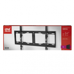 """ONE For ALL Wall mount, WM 4611, 32-84 """", Fixed, Maximum weight (capacity) 100 kg, VESA 100x100, 200x100, 200x200, 300x200, 300x300, 400x200, 400x300, 400x400, 600x400 mm, Black"""