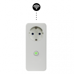Mill WIFI Socket with integrated thermostat, for heaters. Max. power: 2 300W. Control all your heaters situated in multiple locations (home, cabins etc), all inside the Millheat app., White