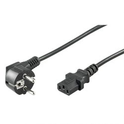 Goobay 68604 Cold-device connection cord, angled; 1.5 m, black