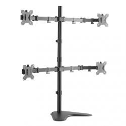 "Logilink BP0046 Quad Monitor Desk Stand 13""-32'' Logilink Desk Mount, BP0046, 13-32 "", Maximum weight (capacity) Carrying capacity of each arm: Max. 8 kg  kg, Black"