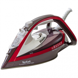 TEFAL Turbo Pro Iron FV5635E0 Bordo, 2600 W, Steam iron, Continuous steam 50 g/min, Steam boost performance 200 g/min, Anti-drip function, Anti-scale system, Vertical steam function, Water tank capacity 300 ml