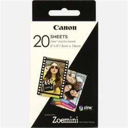 Canon 20 sheets ZP-2030 Photo Paper, White, 5 x 7.6 cm