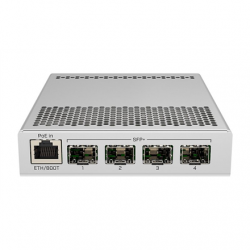 MikroTik Switch CRS305-1G-4S+IN PoE 802.3 af and PoE+ 802.3 at, Managed, Desktop, 1 Gbps (RJ-45) ports quantity 1, SFP+ ports quantity 4
