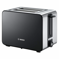Bosch Toaster TAT7203 Black, 1050 W, Number of slots 2, Number of power levels 7, Bun warmer included