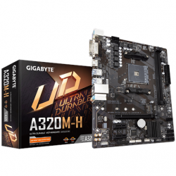 Gigabyte GA-A320M-H 3.0 Processor family AMD, Processor socket AM4, DDR4 DIMM, Memory slots 2, Number of SATA connectors 4 x SATA 6Gb/s, Chipset AMD A, Micro ATX