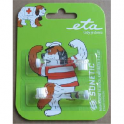 ETA Toothbrush replacement  for ETA0710 For kids, Heads, Number of brush heads included 2, White