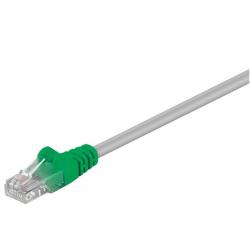 Goobay CAT 5e Crossover-patch cable, U/UTP 68864 5 m, Grey, green