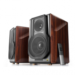 Edifier Wireless active speaker system  S3000 PRO Balanced, analog, USB, optical and coaxial inputs, Bluetooth version 5.0, Brown,   2x 8 W (HF), 2x 120 W (MF / LF) W