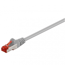 Goobay 93568 CAT 6 patch cable S/FTP (PiMF), grey, 0.5 m