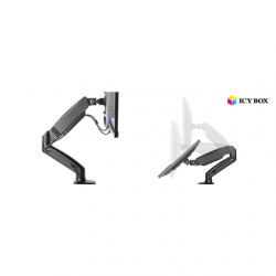 """ICY BOX IB-MS303-T Monitor stand with desk mounted base for a screen size up to 27"""""""
