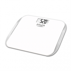 Adler Bathroom scales AD 8164 Maximum weight (capacity) 180 kg, Accuracy 100 g, Multiple user(s), White,
