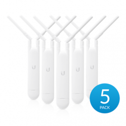 Ubiquiti UniFi UAP-AC-M-5Pack Mesh Access Point Wi-Fi standards 802.11a/b/g/n/ac, 867 Mbit/s, 10/100/1000 Mbit/s, Ethernet LAN (RJ-45) ports 1, MU-MiMO Yes, 2.4/5