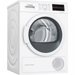 Bosch Dryer Machine WTW85L48SN Condensed, Condensation, 8 kg, Energy efficiency class A++, Number of programs 9, Self-cleaning, White, Depth 60 cm, LED,