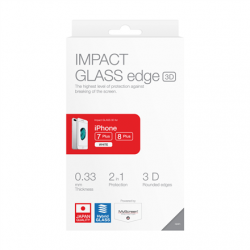 Impact glass 3D for iPhone 7 plus /8 plus, white